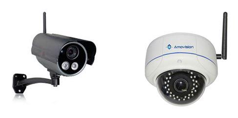 Contoh kamera nirkabel yang menggunakan koneksi wifi.
