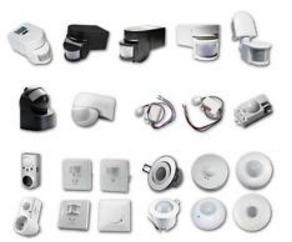 Beberapa contoh perangkat pendeteksi gerakan