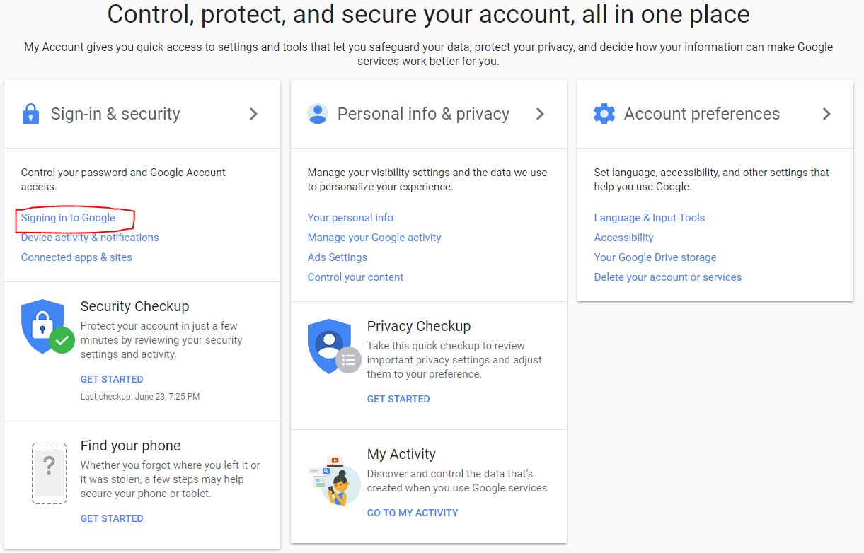 Two-Level Authentication google